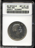 Coins of Hawaii: , 1883 50C Hawaii Half Dollar--Cleaned--ANACS. AU Details, ...