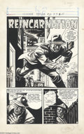 "Original Comic Art:Complete Story, Jack Sparling - Chamber of Chills # 22, Complete 5-page Story""Reincarnation"" Original Art (Harvey, 1954). A career criminal..."