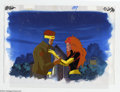 "Original Comic Art:Miscellaneous, X-Men ""Dark Phoenix"" Animation Cel and Background Original Art(Marvel, circa 1990s). Portraits of Cyclops and Phoenix are f..."