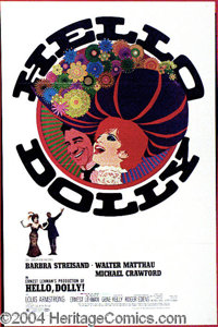 """Hello Dolly (20th Century Fox, 1969). One Sheet (27"""" X 41""""). Barbra Streisand stars as the famed character, Do..."""