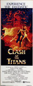 """Movie Posters:Fantasy, Clash of the Titans (MGM, 1981). Insert (14"""" X 36""""). Movie effects pioneer, Ray Harryhausen creates a world of mysticism an..."""