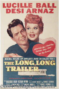 "Long Long Trailer, The (MGM, 1954). One Sheet (27"" X 41""). Desi and Lucy buy a house trailer and take an ill f..."