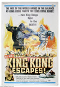 "Movie Posters:Horror, King Kong Escapes (Universal, 1968). (40"" X 60""). A mechanicalmanmade King Kong fights the real King kong and destroys much..."