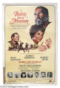 "Movie Posters:Comedy, Robin and Marion (Columbia, 1976). (40"" X 60""). Sean Connery plays an aging Robin Hood to a radiant Audrey Hepburn who portr..."