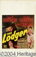 """Movie Posters:Horror, Lodger, The (20th Century Fox, 1944). Window Card (14"""" X 22""""). Merle Oberon starred in this Victorian Jack the Ripper tale.T..."""