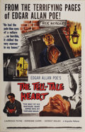 "Movie Posters:Horror, Tell Tale Heart (Brigadier Film, 1961). One Sheet (27"" X 41""). Edgar Allan Poe, one of history's first horror authors, first..."
