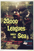 "Movie Posters:Science Fiction, 20,000 Leagues Under the Sea (Disney, R1971). One Sheet (27"" X 41""). Jules Verne's classic telling of the tale of the mad g..."