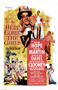 """Movie Posters:Comedy, Here Comes the Girls (Paramount, 1953). One Sheet (27"""" X 41""""). BobHope is playing the hapless chorus boy opposite the marve..."""