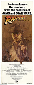 """Movie Posters:Adventure, Raiders of the Lost Ark (Paramount, 1981). Insert (14"""" X 36"""").Harrison Ford stars as Indiana Jones in this first chapter fr..."""