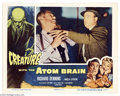 "Movie Posters:Horror, Creature with the Atom Brain (Columbia, 1955). Lobby Card (11"" X 14""). Great image of the atom killer from this Curt Siodmak..."