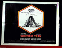 "Andromeda Strain, The (Universal, 1971). Half Sheet (22"" X 28""). Memorable doomsday thriller with strong relev..."