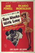 "Movie Posters:Comedy, Two Weeks With Love (MGM, 1950). One Sheet (27"" X 41""). The brightand shiny comedy/musical that showcases the incredible ta..."