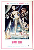 "Movie Posters:Miscellaneous, Space Love (Assorted, 1971). One Sheet (27"" X 41""). Early 70's ""X""rated space adventure. Note the image of the astronaut wh..."
