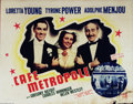 """Movie Posters:Drama, Cafe Metropole (20th Century Fox, 1937). Half Sheet (22"""" X 28""""). Great 30's society film with a radiant Loretta Young. Right..."""