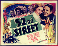 "52nd Street (United Artists, 1937). Half Sheet (22"" X 28""). The story of how 52nd Street in New York became ni..."