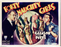 "Movie Posters:Comedy, Forty Naughty Girls (RKO, 1937). Half Sheet (22"" X 28"").Mystery/comedy from 1937 with the ever droll Zazu Pitts. The piece..."