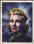 "Movie Posters:Miscellaneous, Ginger Rogers Color Portrait (RKO, 1937). Half Sheet (22"" X 28"").Beautiful studio produced color photo portrait printed on ..."
