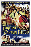 """Movie Posters:Swashbuckler, Fortunes of Captain Blood (Columbia, 1950). One Sheet (27"""" X 41"""").What a gorgeous one sheet . Classic swashbuckler images i..."""