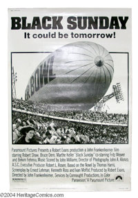 """Black Sunday (Paramount, 1977). (40"""" X 60""""). Story of a group of terrorists who plan a far out scheme to blow..."""