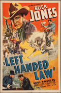 """Movie Posters:Western, Left Handed Law (Universal, 1937). Folded, Fine+. One Sheet (27"""" X 41""""). Western.. ..."""