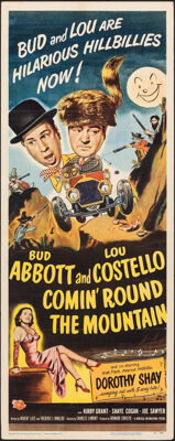 "Comin' Round the Mountain (Universal International, 1951). Folded, Very Fine-. Insert (14"" X 36"") Paul Webb Ca..."