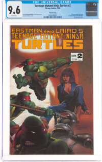 Teenage Mutant Ninja Turtles #2 Third Printing (Mirage Studios, 1985) CGC NM+ 9.6 White pages