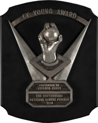 1978 National League Cy Young Award Presented to Gaylord Perry with Perry Provenance