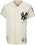 """Baseball Collectibles:Uniforms, Circa 1990 Mickey Mantle """"No. 7"""" Signed New York Yankees UDA Jersey - Limited 72/536. ..."""