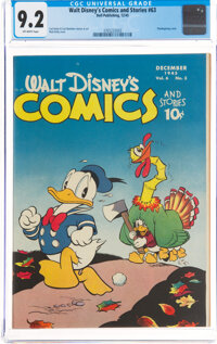 Walt Disney's Comics and Stories #63 (Dell, 1945) CGC NM- 9.2 Off-white pages