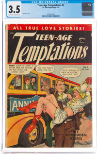 Teen-Age Temptations #2 (St. John, 1953) CGC VG- 3.5 Off-white to white pages