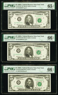 Small Size:Federal Reserve Notes, Fr. 1970-B $5 1969A Federal Reserve Notes. B-B and B-C Blo...