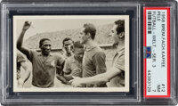 1958 Bremer Fachring Kaffee Pele Rookie Futball - Welt. - Ser. 3 #12 PSA NM 7--One of Two Finest Known!