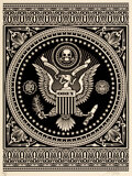 Prints & Multiples, Shepard Fairey (b. 1970). Presidential Seal (Black), 2007. Screenprint on speckled cream paper. 24 x 18 inches (61 x 45....