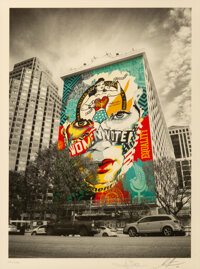 Shepard Fairey X Sandra Chevrier The Beauty of Liberty and Equality by Jon Furlong, 2020 Offset lith