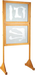 Sculpture, Suzan Etkin (b. 1955). Mirror Board, 1991. Two-way mirror with metal hinges and wood. 77 x 37 inches (195.6 x 94 cm). ...
