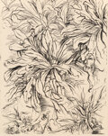 Works on Paper, George Grosz (1893-1959). Plants, Douglaston, Long Island, 1937. Ink on paper. 19-3/4 x 15-1/2 inches (50.2 x 39.4 cm). ...