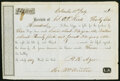 Confederate Notes:Group Lots, Columbus, Unknown State- Bill of Sale Three Slaves $3,600 July 18, 1856 T73 Fine-Very Fine.. ...
