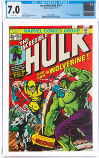 The Incredible Hulk #181 (Marvel, 1974) CGC FN/VF 7.0 White pages