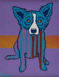 George Rodrigue (1944-2013) Blue Dog, 1994 Mixed media with silkscreen and acrylic on canvas board