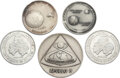 Explorers:Space Exploration, Apollo 8: Collection of Five Commemorative Medals, Directly from the Estate of NASA Legend Chris Kraft, with Certificate of Au...