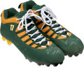 Football Collectibles:Others, 2020 Davante Adams Game Worn & Signed Green Bay Packers Air Jordan Jumpman Cleats - Used 10/25 vs. Texans (13 rec, 196 yds, 2 ...