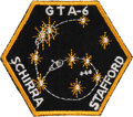 Explorers:Space Exploration, Gemini 6A: Rare Original Embroidered Crew Patch Directly from the Estate of NASA Legend Chris Kraft, with Certificate of Authe...