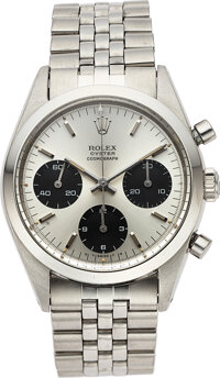 "Rolex, ""Pre-Daytona"" Ref. 6238, Oyster Chronograph, Stainless Steel, Circa 1966"