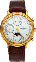 """Timepieces:Wristwatch, Eterna-Matic, """"Les Historiques"""" 18k Gold Triple Date Automatic With Moon Phase. ..."""