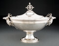 Silver & Vertu, A Shreve, Crump & Low Silver Tureen with Applied Stag Handles, Boston, third quarter of the 19th century. Marks: SHREVE CR...