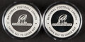 Football Collectibles:Others, 2020 NFC Championship Limited Edition Souvenir Game Flip Coins, Lot of 2 - Buccaneers vs. Packers (Lambeau Field).... (Total: 2 items)