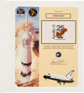 Explorers:Space Exploration, Space Shuttle Columbia (STS-65) Flown Apollo 11 Anniversary Flag on Presentation Certificate, Display Directly fro...