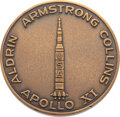 Explorers:Space Exploration, Apollo 11: Limited Edition Medallion Struck by North American Rockwell, Directly from the Estate of NASA Legend Chris Kraft, w...