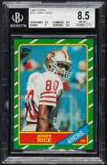 Football Cards:Singles (1970-Now), 1986 Topps Jerry Rice Rookie #161 BGS NM-MT+ 8.5....