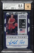 Basketball Cards:Singles (1980-Now), 2020 Panini Contenders Draft Picks Prospect Ticket Autos (Variation B Finals Ticket) Lamelo Ball #54 BGS Nm-MT+ 8.5, Auto 10....